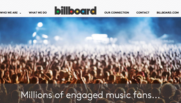 Billboard Magazine's Media Planning Site